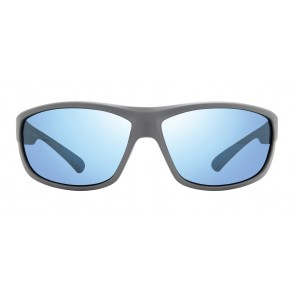 Matte Light Grey Frame with Blue Water Lens
