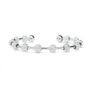 Ball Bead Stroke Counter Bracelet - Silver