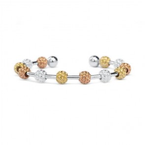 Golf Goddess Golf Ball Bead Stroke Counter Bracelet - Tricolor