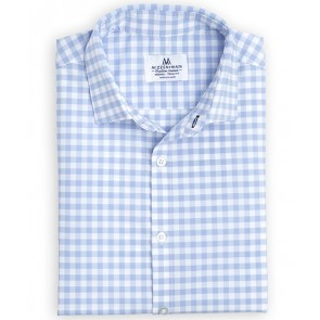Hampton Shirt - Blue Large Gingham - Trim Fit (MM-5200TRIM)