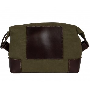 Camo Green Canvas with Chestnut Leather