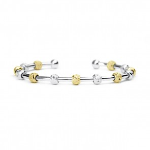 Golf Goddess Stroke Counter Bracelet - Two Tone Silver and Gold